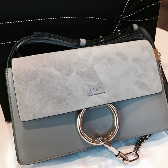 7e882f647f67c Chloe Bags | Chole Faye Small Shoulder Bag Gray Color | Poshmark
